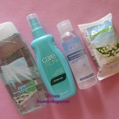 Косметический набор Avon: гель для душа, спрей, антибактериальный гель, мыло эйвон