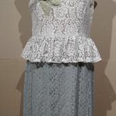 2 страницы лотов от 10 гр..Гипюровое платье с баской.. р 48