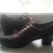 туфли с натуральной кожи Tamaris 41р.26.5см стелька легкое б/у обуты 1раз нюанс см.фото
