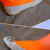 Полностью кожаные балетки Bata, ориг. Бразилия, разм. 37 (23,5 см внутри). Сост. отличное!