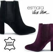 Летняя низкая цена! Esmara® 37,39,40,41 натуральный замш ботинки Австрия качество