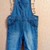 Крутий джинсовий комбінезончик 9-12 міс