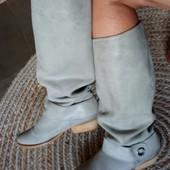 Замшевые сапоги деми, 38 размер, 24.5 см