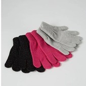лот 3шт!!! набор перчаток George с люррексной нитью