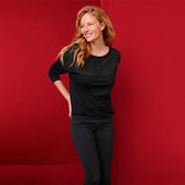 ☘ Женская блузка с длинными рукавами и круглым вырезом Tchibo(Германия), р.наш: 50-52 (44/46 евро)