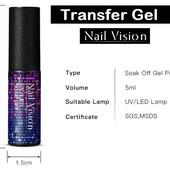 Трансферный гель Transfer Foil Gel 5 мл для перевода фольги (проверено - отпечатывает олично)