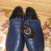 Удобные туфли-мокасины на широкую ножку р. 41