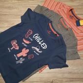 Германия! 3 котттоновые футболочки на малыша! 98-104 см рост. 2-4 года