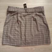 Фирменная новая красивая юбка под пояс р.20-22 полиэстер вискоза эластан