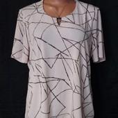 Пудровая стрейчевая футболка,Windsmoor, Румыния, грудь-110+