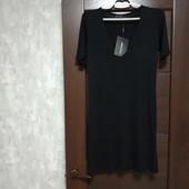 Фирменное новое трикотажное вискозное домашнее платье или ночная сорочка р.34(6-10)