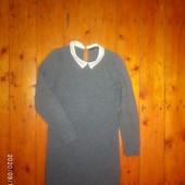 Класнюче вязане плаття діловий стиль з комірчиком) р 42