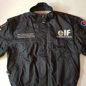 Фирменная мужская куртка – бомбер мотоспорт! Elf, размер L.