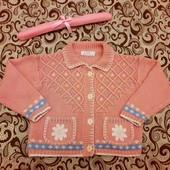 Теплая кофточка с яркой вышивкой на девочку от бренда Marks & Spencer!