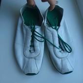 белые кожанные кроссовки Clarks рр 6, стелька 25.5см