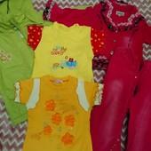 Одежда для девочки лот 6 ед. 98-104