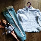 Комплект для девочки(гольф+ крутые штаники HEMA)