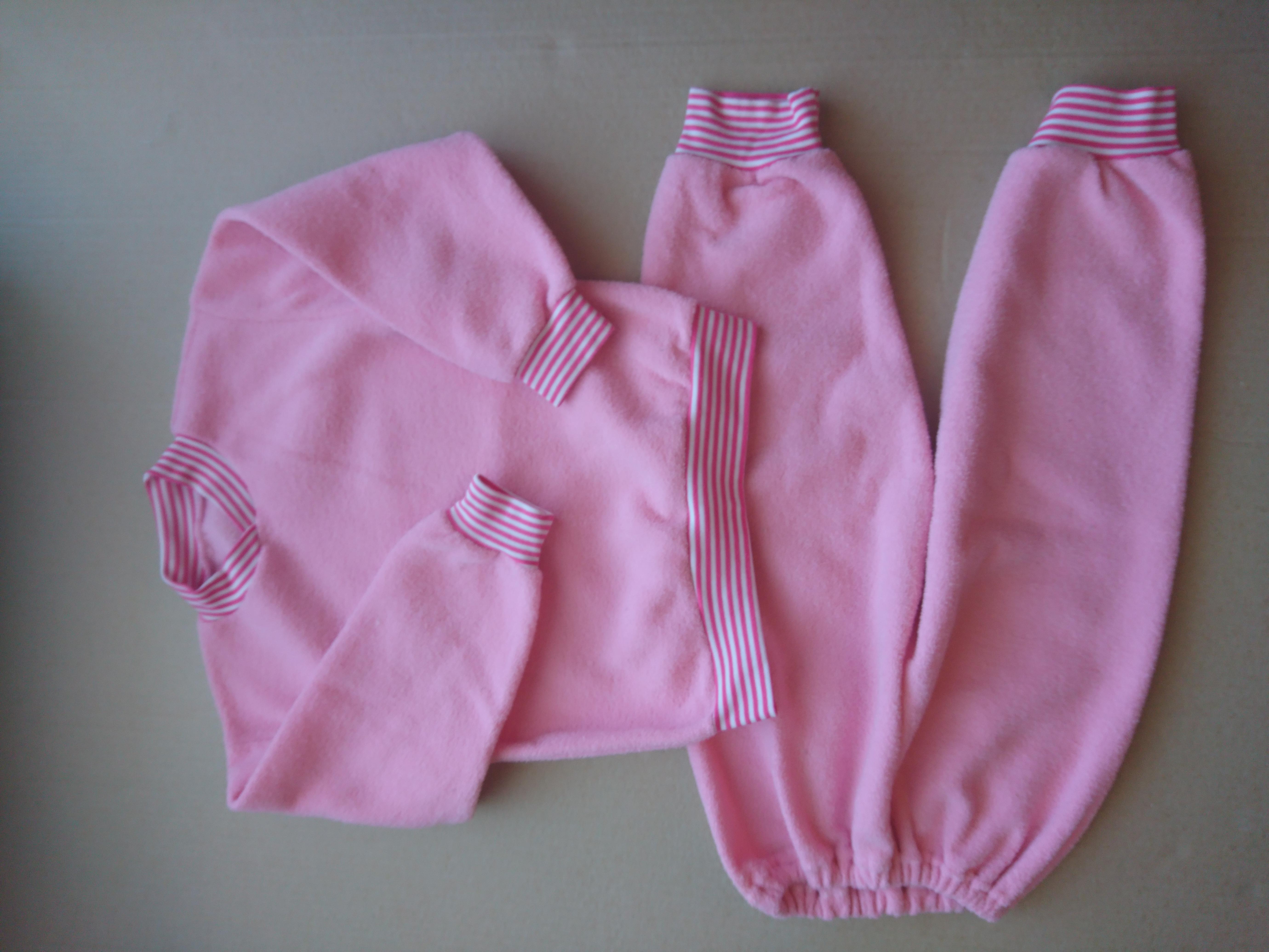 Тёплая пижама 92-98, махра начесная