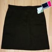 Коричневая школьная юбка banner shcoolwear. с бирками. смотрите мерки
