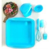 Набор силиконовых приборов А-Плюс (лопатка, венчик, кисть,формочки 6шт, форма, прихватка)