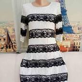 Чёрно-белое платье из кружева, River Island