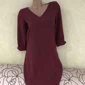 Роскошное брендовое платье на подкладке Esprit. Цвет марсала.