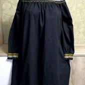 Собираем лоты!! Платье с плечами на пышную красу, размер 22/48,100 %котон