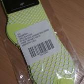 Яркие носочки сеточки салатового цвета универсального размера 36/39