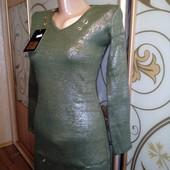 Вязаное трикотажное платье! Качество!