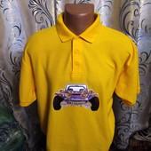 Яркая мужская футболка с воротником поло fruit ot the loom