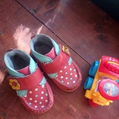 суперские кожаные туфли-ботинки