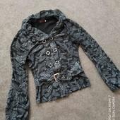 Кофта пиджак.Материал стрейчевый, блестящий.