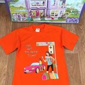 Не пропустите!!!Гламурная турецкая футболочка на девочку 7-12 лет