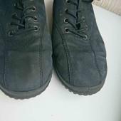 чёрные нубуковые ессо туфли кроссовки стелька 25см от края до края с загибом