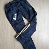 Теплые женские спортивные штаны Adidas на флисе и синтепоне, размер на выбор.