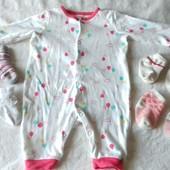 Большой лот малышу! платье,ниблер,коврик,ромпер и 4 пары носочков