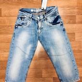Италия! Мужские джинсовые бриджи. Takeshy Kurosawa. Распродажа! Смотрите замеры!