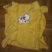 ☀️ Теплое мягкое вельсофтовое полотенце в каляску или кроватку