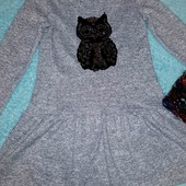 Красивое платье из ангоры-софт с пайетками-перевёртышами,на 10-12 лет