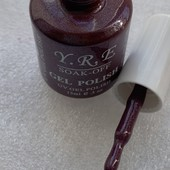 Новая коллекция гель лаков YRE 15мл. шикарный цвет, бутылочка стекло.