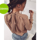 Стильная блузка с бантом сзади
