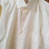 Рубашка на запонках М 39/40 нежно жёлтый цвет