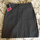Banner юбка трапеция серая на талию 66 см  / w 26 13-14-15-16-17-18л + деловая офисная S новая