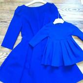 Шикарные 2 платья в стиле Family look мама р.42-44, дочка р.74-86