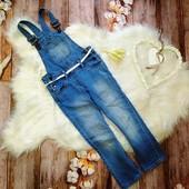 Стильный джинсовый комбинезон Kiabi на 4-6 лет