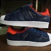 """Натуральный замш ! Оригинальные кроссовки Adidas Originals Superstar """"Amsterdam""""  24,5 см."""""""