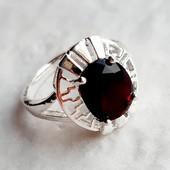 Серебряное кольцо с Альмандином, 925 проба