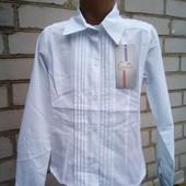 новая блузочка. ,140,146 см.хлопок.