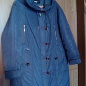 Зимняя удлиненная куртка-пальто на холлофайбере. Мonika, см. замеры