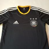 Фирменная стильная футболка для мальчика Adidas climalite, оригинал. 12 – 16 лет, см замеры. нюанс